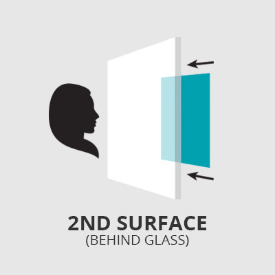 2nd Surface Behind Glass
