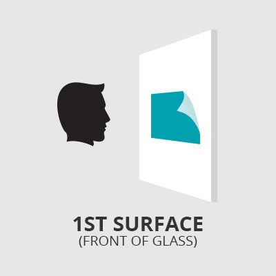 1st Surface Front of Glass